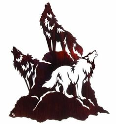 "23"" Night Chorus (Wolves Howling) Metal Wall Art"