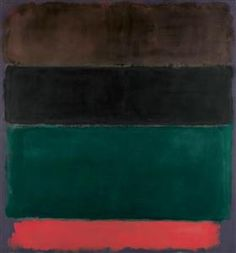 Untitled (Red-Brown, Black, Green, Red) - Mark Rothko