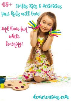 Kids arts and crafts Kids activities, crafts and books perfect for educating & entertaining kids. Craft Kits For Kids, Spring Crafts For Kids, Summer Crafts, Projects For Kids, Fun Crafts For Kids, Art For Kids, Activities For Kids, Arts And Crafts, Tie Dye Kit
