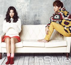 Park Shin Hye and Yoon Si Yoon in InStyle Korea January 2013