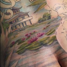 Riky full backpiece in progress --healed----