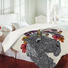 My design inspiration: Unicornucopia Duvet Cover Twin on Fab.
