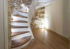 Small Space Staircase, Staircase Storage, Style At Home, Condominium Interior, Terrace Design, Home Interior Design, Small Spaces, Sweet Home, New Homes