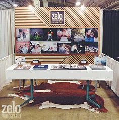 Zelo Photography always kills it with their trade show booth design!  www.zelophotoblog.com  Modern, Rustic, DIY, Clean, Simple.... they're the total package  :)