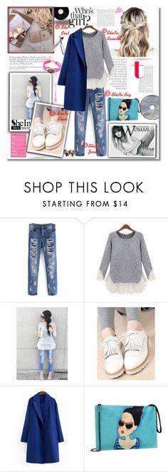 """SheIn Casual Outfit"" by lillili25 ❤ liked on Polyvore featuring BLUE NOTCH, Sheinside, polyvoreeditorial and shein"