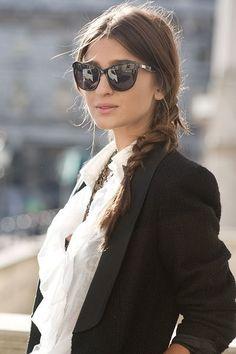 Sunglasses + braid