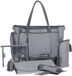 Babymoov Essential Bag - Diaper Tote with Changing Pad, Shoulder Strap and Baby Travel accessories (Smokey Gray) Baby Changing Bags, Changing Pad, Buy Backpack, Diaper Bag Backpack, Insulated Bags, Kids Collection, Transparent Bag, Baby Diaper Bags, Layette
