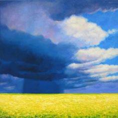 """Saatchi Art Artist Ieva Baklane; Painting, """"Canola field in bloom"""" #art"""