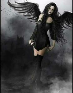Angel of Death by Sveva Mixed Medium Gothic Gothic Fantasy Art, Fantasy Artwork, Fantasy Women, Gothic Angel, Gothic Fairy, Beautiful Dark Art, Beautiful Fairies, Dark Beauty, Gothic Beauty