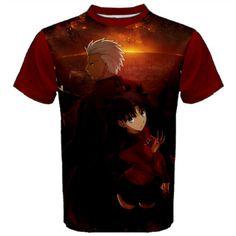 Shirt, Fate Stay Night, Archer, Rin, Anime, Manga, T-Shirt, Black, Red, Anime Shirt, Cosplay, Kawaii, Zero, Moon Type, Men, Women, Otaku