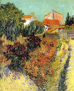Garden Behind a House (1888) / by Vincent van Gogh