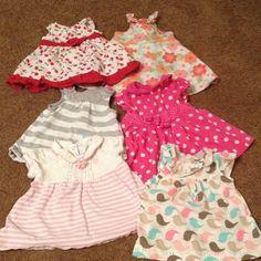 Baby dress bundle 6 dress 1 polo dress size 3-6/6/6-9 Polo by Ralph Lauren Dresses