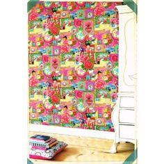 Behang, smal rood streepje, glanzend en mat  Behang rood  Pinterest