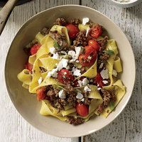 Pasta with Lamb-and-Cherry-Tomato Ragu. I make this all the time ...