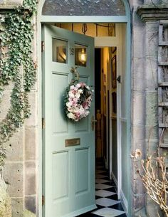 Pretty door n wreath