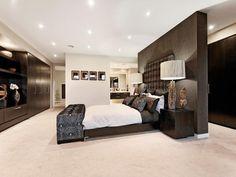bedroom ideas with built-in wardrobe