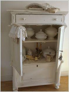 Cabinet full of white lovelies