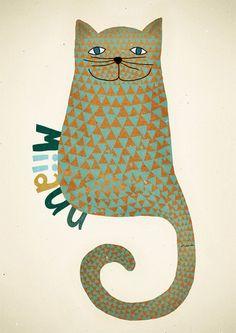 Miiauu poster by MichelleCarlslund