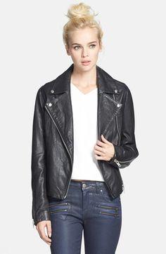 Topshop 'Birthday' Leather Biker Jacket (Nordstrom Exclusive) on shopstyle.com