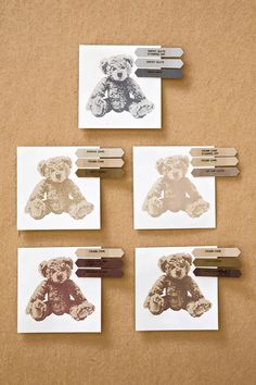 How cute is this little Baby Bear! It's 3-step stamping so the samples below are shown along with the 3 colors of ink used to create him . . . or her. If you've been a Stampin...