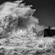 This past January, a massive storm hit across Portugal that produced strong winds of up to 80 miles per hour and heavy rain. Description from mymodernmet.com. I searched for this on bing.com/images