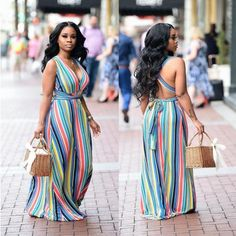 Tall Fashion Tips Striped Cross Back Maxi Dress Waist Tie.Tall Fashion Tips Striped Cross Back Maxi Dress Waist Tie Women's Dresses, Plus Size Maxi Dresses, Casual Dresses, Fashion Dresses, 1950s Dresses, Party Dresses, Maxi Dress Summer, Summer Dress Outfits, Floral Maxi Dress