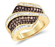 Brown Diamond Fashion Rings Chocolate Brown Diamond Ring