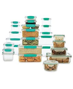 Fantastic collection of Martha Steawart food storage containers. We need to stock up BEFORE the beginning of school, this year!