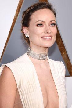 Oscars 2016 Best Beauty Looks Olivia Wilde Oscar, Die Wilde 13, Celebrity Skin, Celebrity Jewelry, Olivia Munn, Christina Hendricks, Celebs, Celebrities, Famous Women