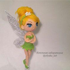No photo description available. Disney Crochet Patterns, Crochet Disney, Crochet Doll Pattern, Crochet Patterns Amigurumi, Amigurumi Doll, Crochet Dolls, Doll Patterns, Crochet Fairy, Crochet Angels