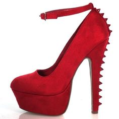 Amazon.com: Sniff Spike Studded Heel Platform Dress Pump w/ Ankle Strap Women Shoes: Shoes