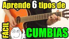 Como tocar cumbia en guitarra (6 tipos diferentes) fácil, sin cejilla