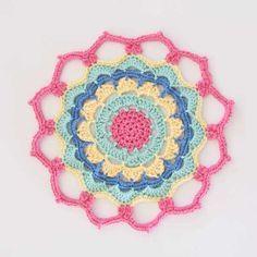 Flower Power Mandala - free pattern @ RedAgape Style & Design, thanks so xox ☆ ★   https://www.pinterest.com/peacefuldoves/