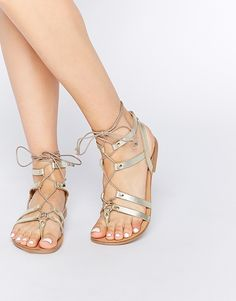$38 - Enlarge New Look Floyd Leather Flat Gladiator Sandals
