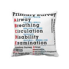 Primary Survey english japanese Pillow
