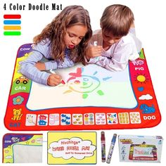 Writing Graffiti Canvas Blanket Baby Child Educational Toys Safe And Non-Toxik #Hivchinge