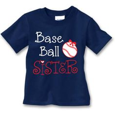Baseball Sister Fan !! by LittleSuperPowers on Etsy