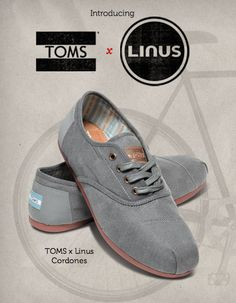 Toms & Linus team up to create men and women's biking shoes with a reflective heel patch