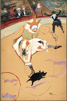 """""""At the Circus Fernando: Medrano With a Piglet,"""" by Henri de Toulouse-Lautrec."""