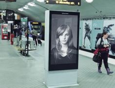 A Swedish subway ad got a lot of attention earlier this year by showing a woman's hair blowing beautifully in the wind whenever a train arrived.