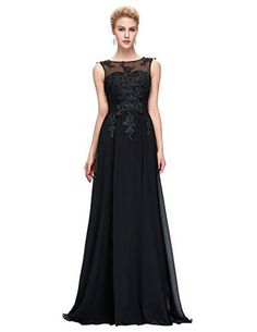Black Long Prom Gown Backless Bridesmaid Evening DressesBlack10 * Details can be found by clicking on the image. (This is an affiliate link) #WomensDresses