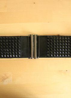 Kup mój przedmiot na #vintedpl http://www.vinted.pl/akcesoria/paski/18799557-szeroki-czarny-pasek-z-cwiekami-mohito-cwieki-elegacki-pas-bulletbelt-goth-punk-rockowy-minimal