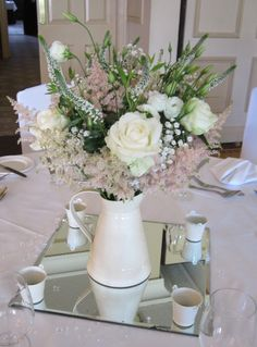 Super Genius Useful Ideas: Wedding Flowers Summer Yellow wedding flowers bouquet olive branches. White Wedding Flower Arrangements, Lilac Wedding Flowers, Fall Wedding Centerpieces, Rustic Wedding Flowers, Floral Centrepieces, Bouquet Wedding, Purple Wedding, Wedding Ideas, Wedding Inspiration