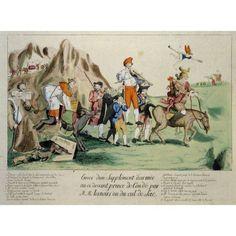 Engraving Satire Contre Le Clerge Paris Canvas Art - (24 x 18)