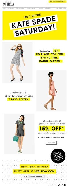 Saturday by Kate Spade homepage #webdesign #katespade #saturday