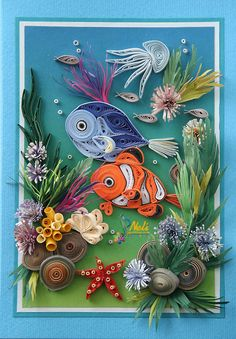 256 Best Quilling Fish Sea Animals Images Quilling Quilling