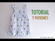 Baby Dress Patterns, Baby Clothes Patterns, Clothing Patterns, Baby Girl Frocks, Frocks For Girls, Baby Girl Frock Design, Couture Bb, How To Make Clothes, Little Dresses