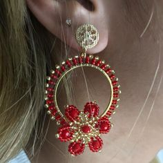 Cute Jewelry, Diy Jewelry, Beaded Jewelry, Fashion Jewelry, Jewelry Making, Beaded Earrings, Hoop Earrings, Brick Stitch, Diy Accessories
