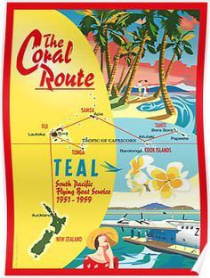 'The Coral Route ' Poster by contourcreative