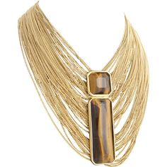 gold chain and tiger's eye necklace